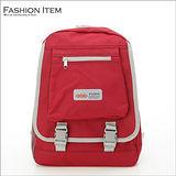 WAIPU 戶外休閒防潑水後背包 背包 書包(繽紛紅)1976