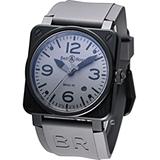 Bell & Ross 機械腕錶BR0392-COMMA-SRU灰