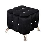 AHOME 薇多利亞法式浪漫水鑽小沙發腳椅(三色)