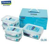 Glasslock五件式強化玻璃保鮮盒 GL06