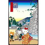 【SANRIO三麗鷗家族拼圖】Hello Kitty浮世繪系列-浪花筋鐘御門1000 pcs