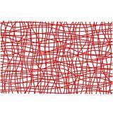 《KOZIOL》網紋硬餐墊(透紅)