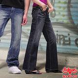 BOBSON 女款寬潮作寬褲管喇叭褲(9057-52)