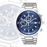 CITIZEN 狩獵者三眼計時碼錶-藍 AN3370-57L