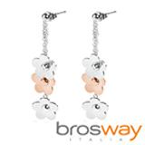【brosway】Eden 不鏽鋼耳環 3花朵
