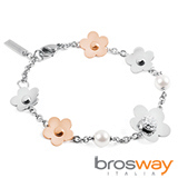 【brosway】Eden 不鏽鋼5顆花朵2顆珍珠 手鍊
