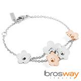 【brosway】Eden 不鏽鋼 3顆五瓣花朵