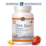 【Nordic Naturals 】北歐天然小愛Q 魚肝油膠囊食品-天然草莓風味(180顆/瓶)