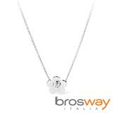 【brosway】Eden 不鏽鋼單朵五瓣花朵 項鍊