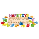 德國Hape愛傑卡-ABC大寫立體木拼圖