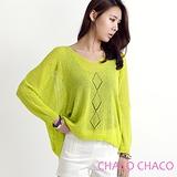 預購【CHACO韓國】韓製菱格圖騰前短後長輕薄針織罩衫s583 *2色