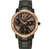 SEIKO criteria 巴黎情緣腕錶-IP黑/玫塊金 5Y66-0BE0SD