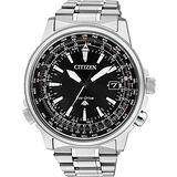 CITIZEN PROMASTER 五局電波光動能【鈦】都會腕錶-黑 CB0131-59E