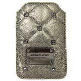 MICHAEL KORS 鉚釘菱紋手機皮套(古銅)