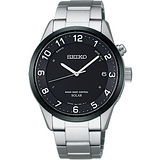 SEIKO SPIRIT Solar 太陽能電波腕錶-黑/銀 7B24-0AS0D